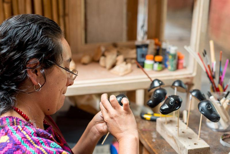 Artisan at work in guatemala