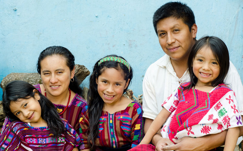 Vilma Chile with her family