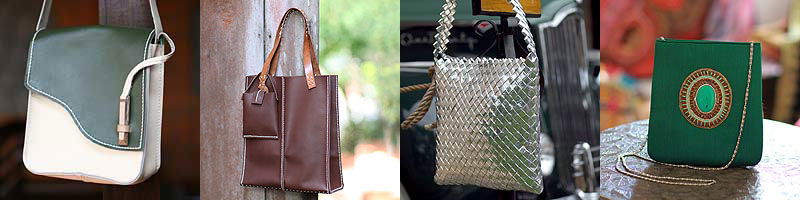 Handbags with elongated frames