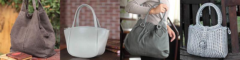 Gray Handbags