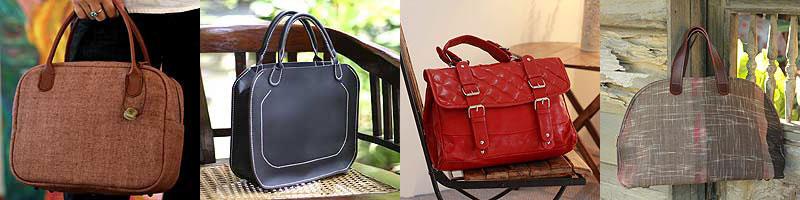 Menswear inspired handbags
