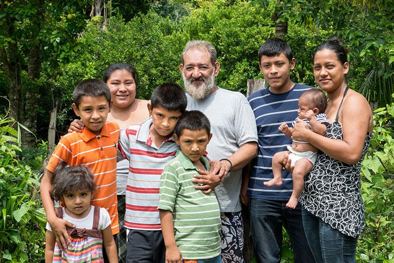 Rolando Soto with his family in Guatemala