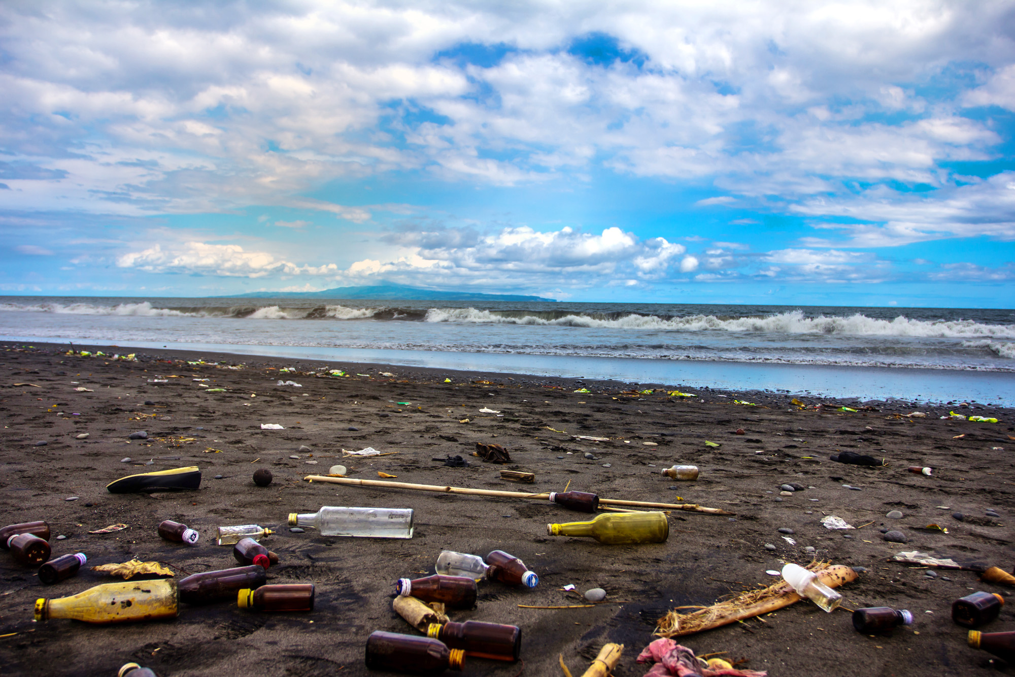 Ketewel Beach in Gianyar Regency: one of Bali's many polluted beaches.