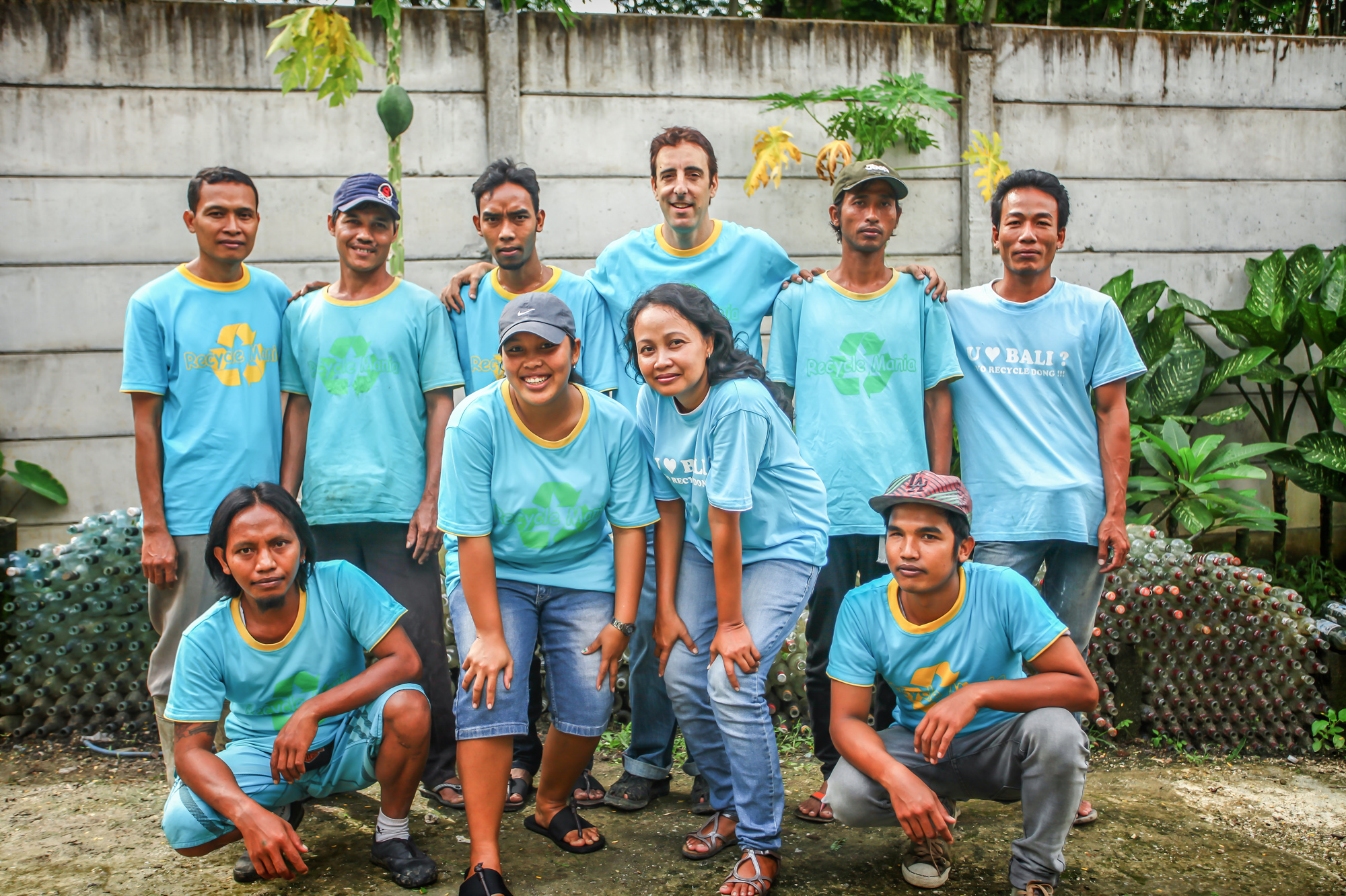 The recycling team at Peduli Bali