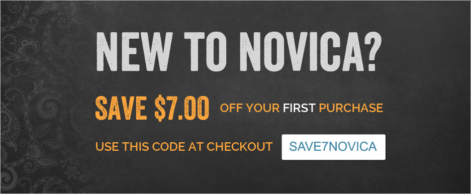 New to NOVICA? Save $7.00 off your first purchase!