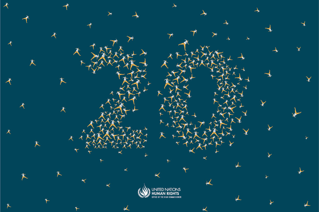 Commemorating the 20th anniversary of the UN Human Rights Office. Credit: OHCHR