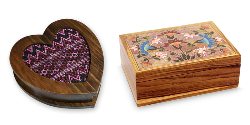 5 Year Anniversary Gift Ideas: Wood Jewelry Boxes