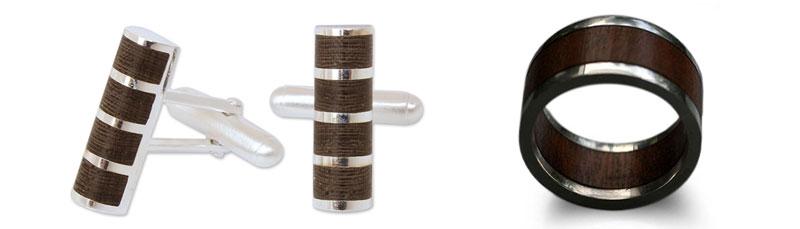 5 Year Anniversary Gift Ideas: Men's Wood Jewelry