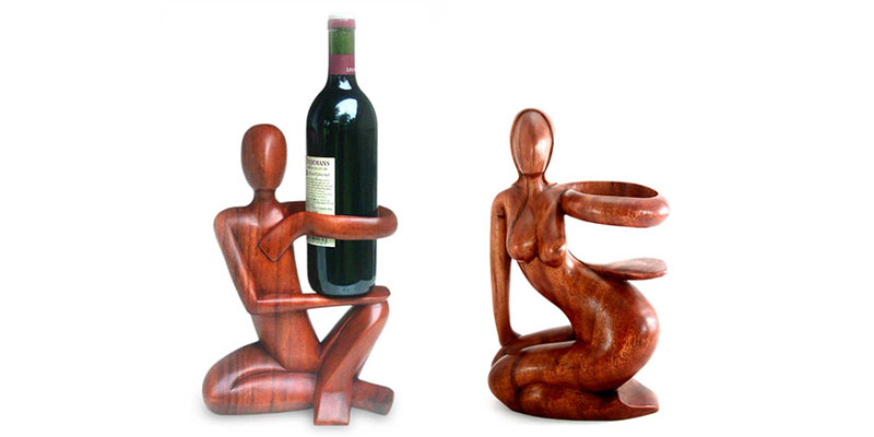 5 Year Anniversary Gift Ideas: Wood Wine Bottle Holders
