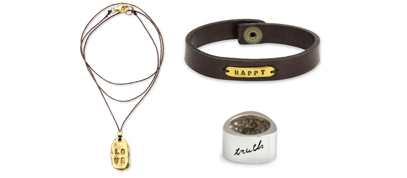 Spring 2014 Jewelry Trends: Message, Slogan, and Inspirational Jewelry