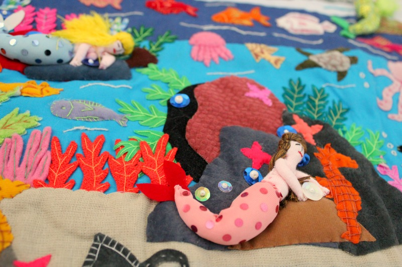 applique wall hanging mermaid party
