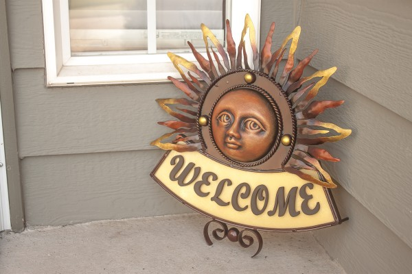 Welcome Friends Into Your Home with This Gorgeous Hand Crafted, Iron, Mexican Sun Welcome Sign