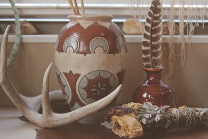 Window Bench Vignette: the Ceramic Vase