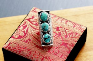 Princess Trio Turquoise Cocktail Ring