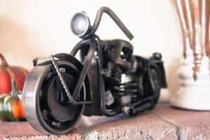 Cruise Into The Perfect Gift with This Motorcycle Sculpture