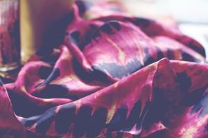 Silk Crimson Reflecting Pools Shawl