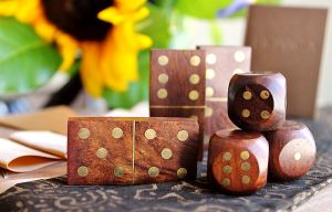 May Your Hands Never Be Idle: Leisure Wood Domino Set From
