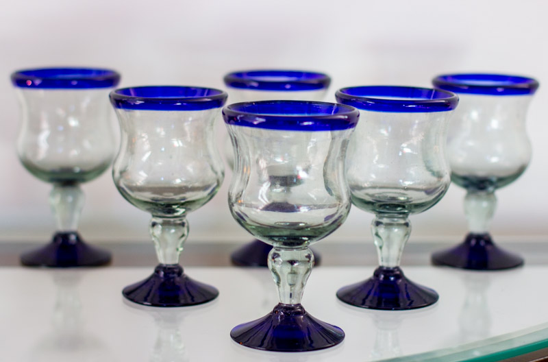 Perfect Handblown Goblet Drinkware for your party