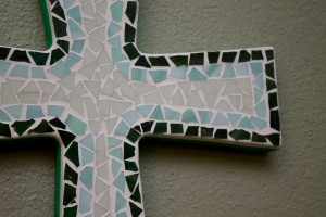 Beautiful Glass Mosaic Cross