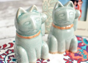 Two Lucky Cat Figurines Are Better Than One