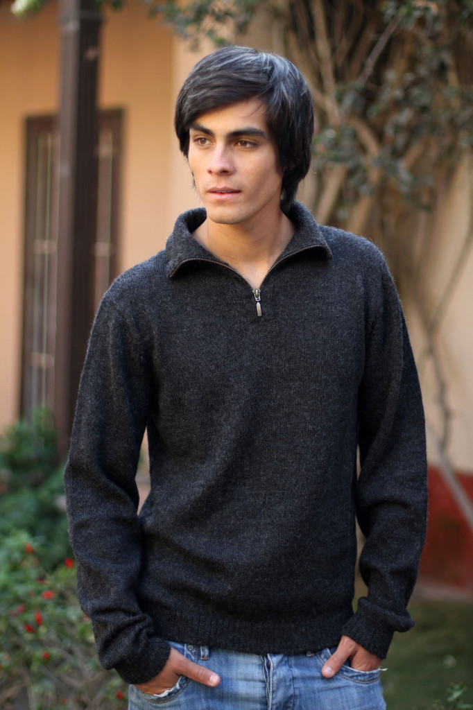 Dark gray men's sweater