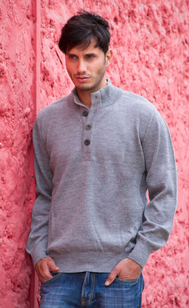 Gray men's sweater