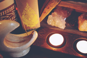 Sacred Space: Tealights and Incense Holders