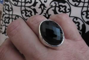 This Bold Black Onyx Ring ROCKS