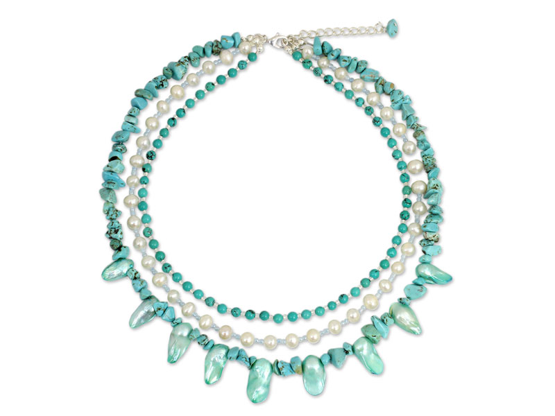 Best Mothers Day Gifts - 'Aqua Glow' Necklace