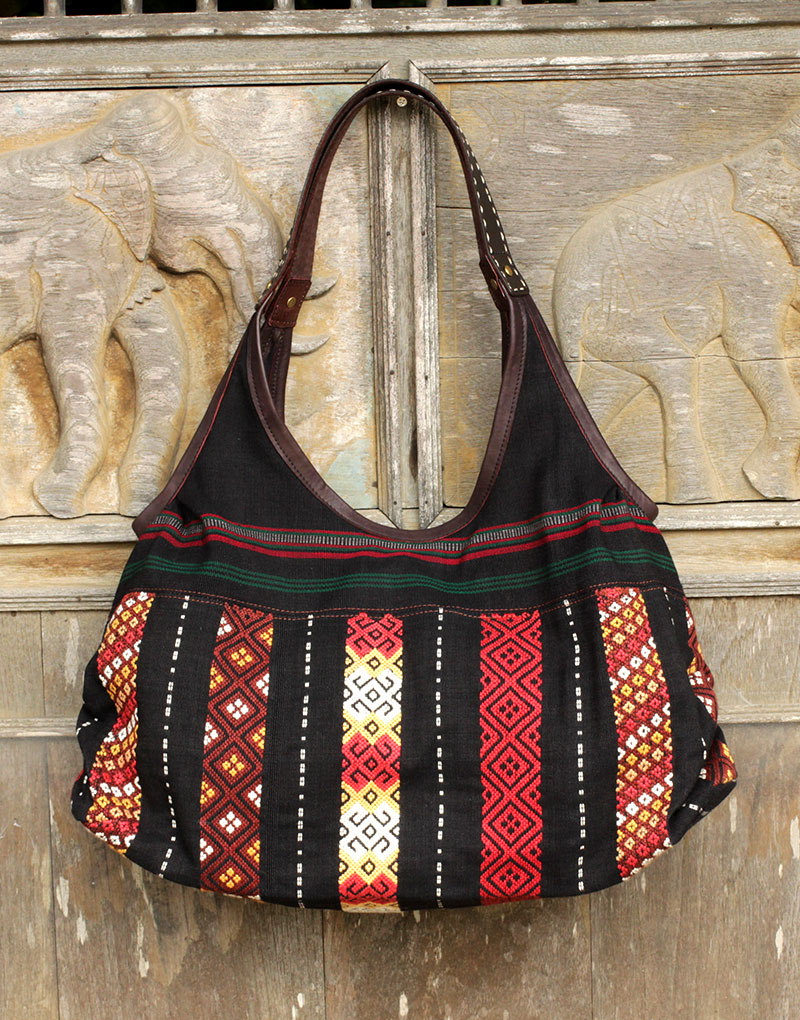 Hill Tribe Shoulder Bag, 'Naga Chic'