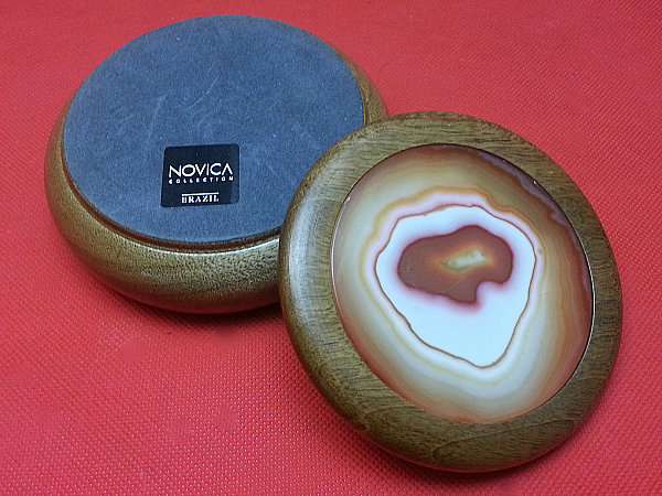 Agate and Cedar Jewelry Box from Brazil