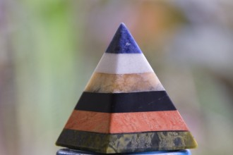 Adding Natural Energy to your home - Handcrafted Gemstone Pyramid Paperweight Sculpture