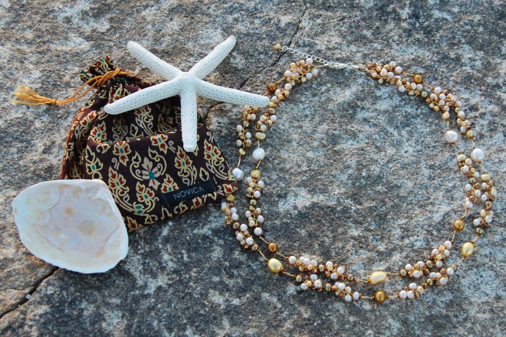 Novica Delightful Brown Pearl Necklace