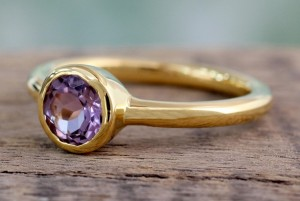 Gold Amethyst Ring - February Birthstone