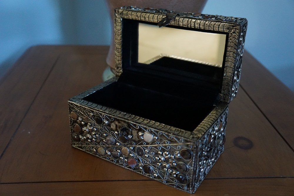 Handcrafted brass jewelry box for her prized possessions
