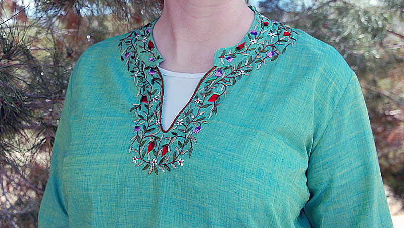 Cool Garden Blouse Embroidery