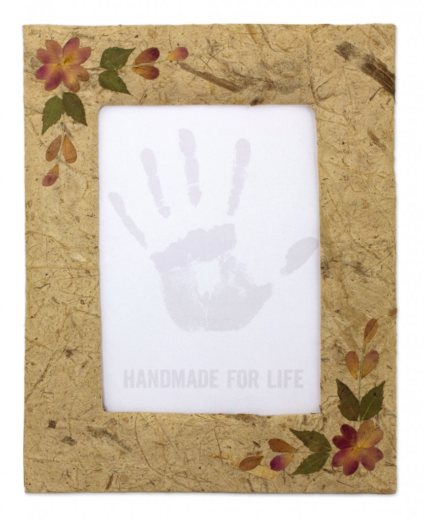Handmade Brown Saa Paper Photo Frame 4x6