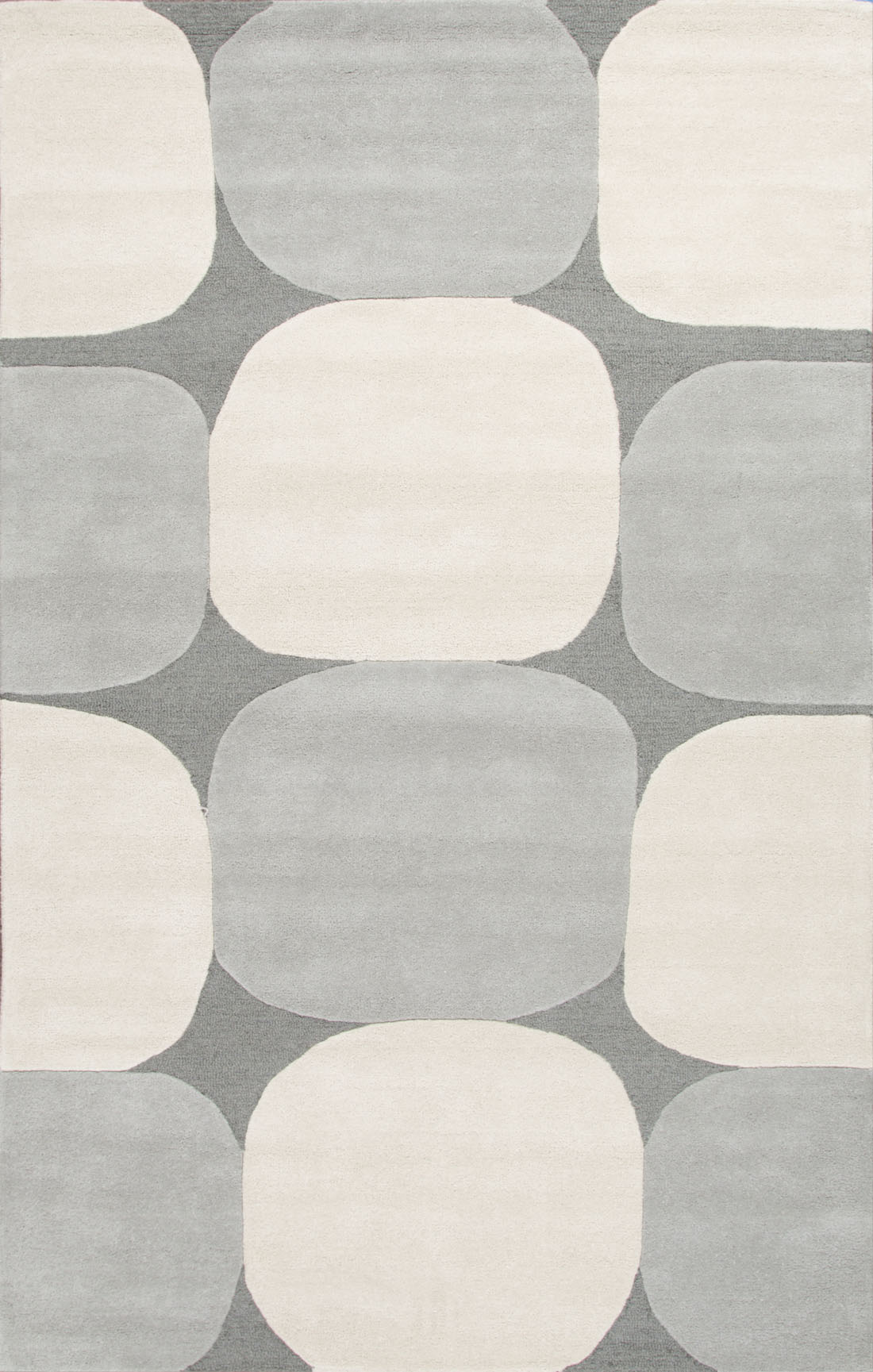 Contemporary area rug in fray and ivory