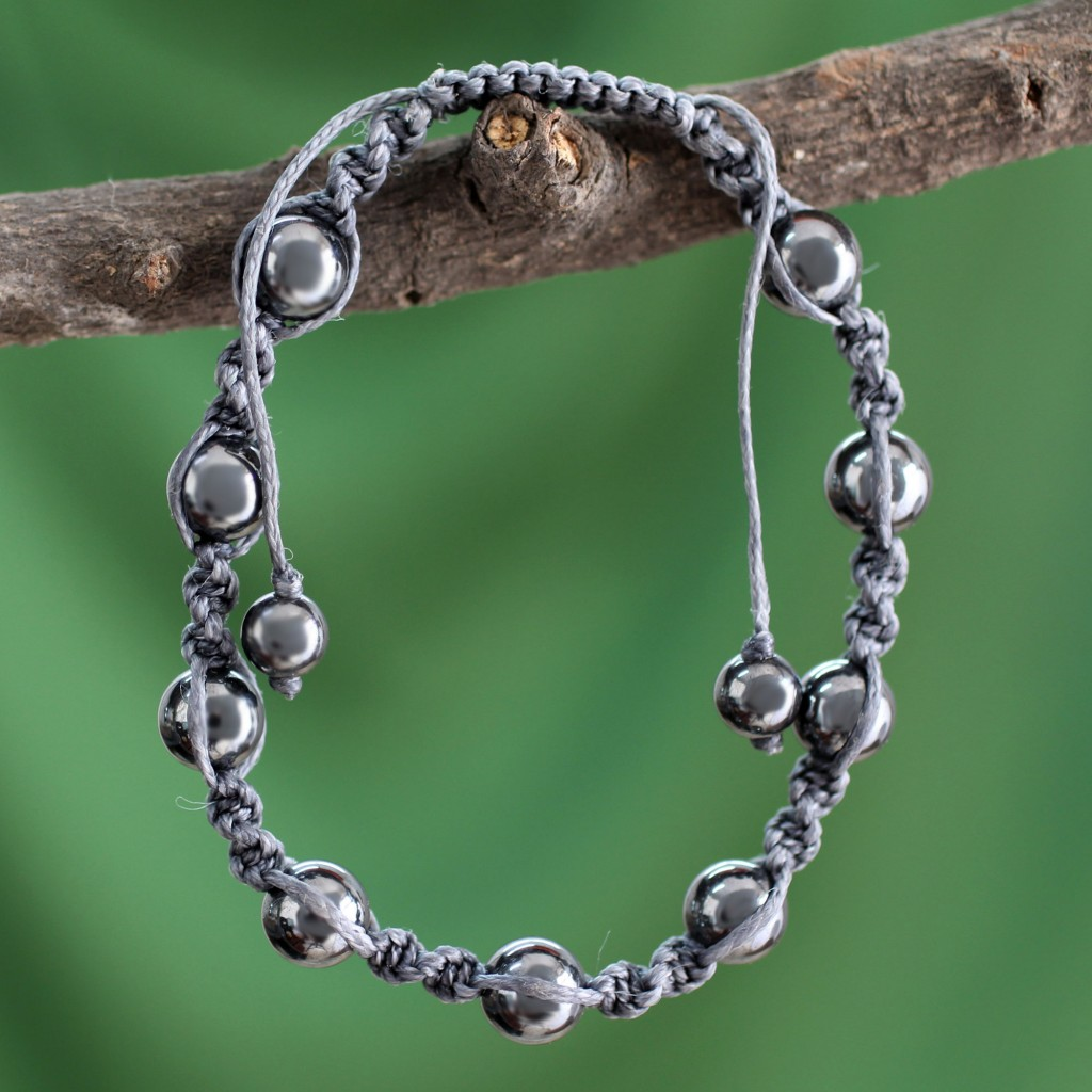 Hematite Shanbhala bracelet
