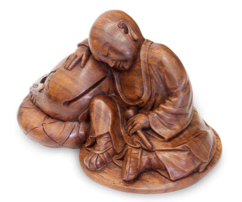 Quiescent Buddha Sculpture Buddhism Buddhist Hand Carved