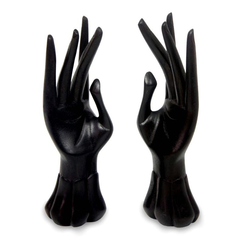 Standing Hands Sculpture Ring Jewelry Holder