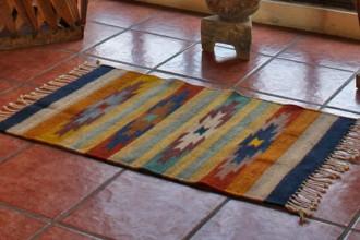 Zapotec wool rug Stars on the Horizon