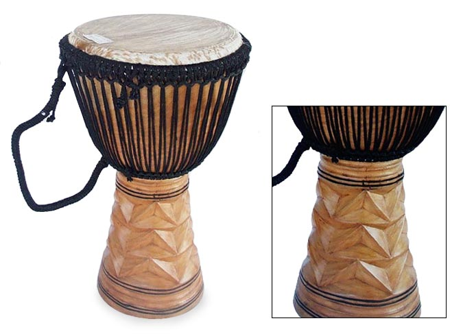 wood drum from africa