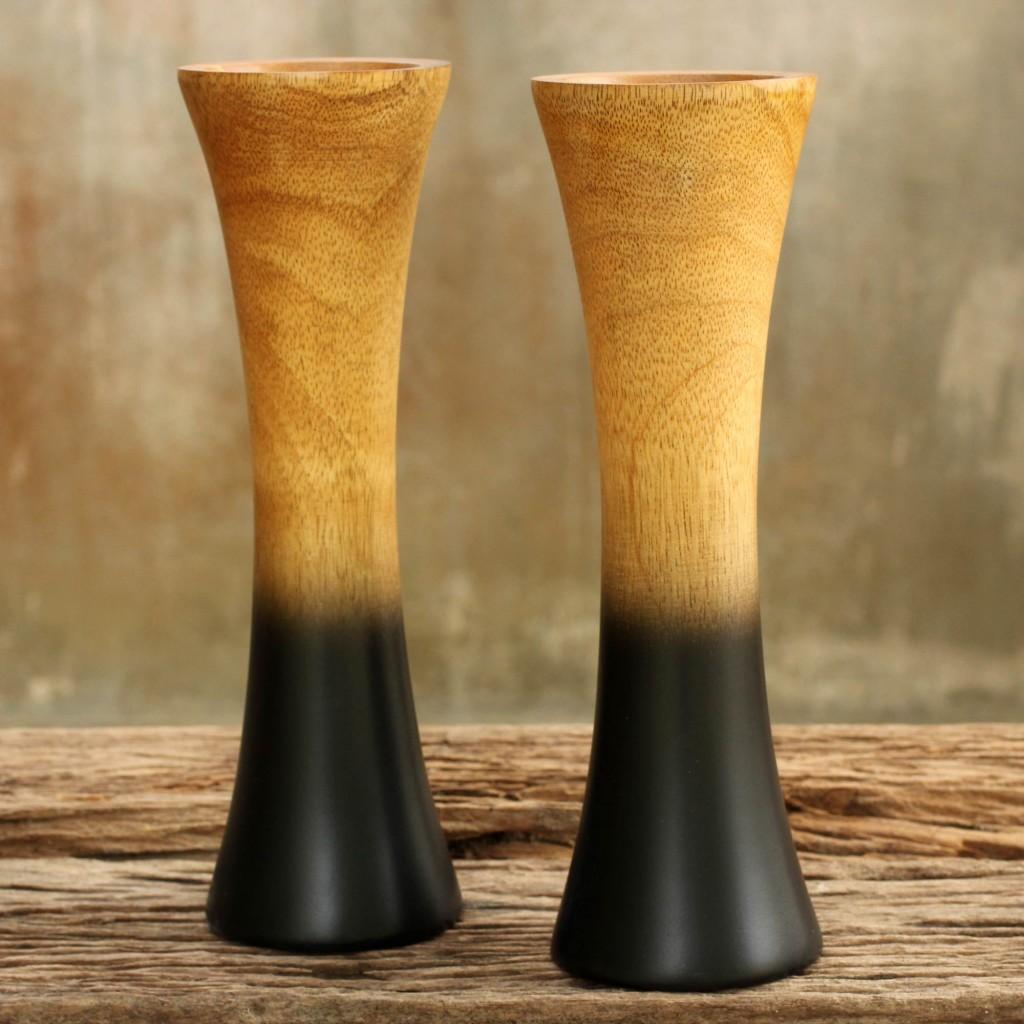 Handmade Mango Wood Vases Volcano décor accessories home accents NOVICA handmade