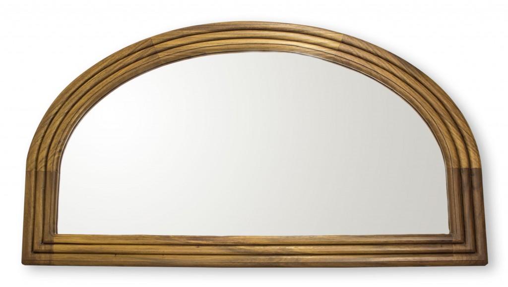 Parota wood wall mirror Mexican Dawn handcrafted fair trade
