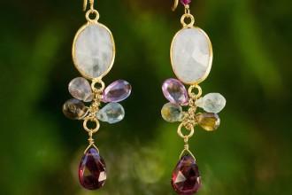 Rainbow Snow earrings