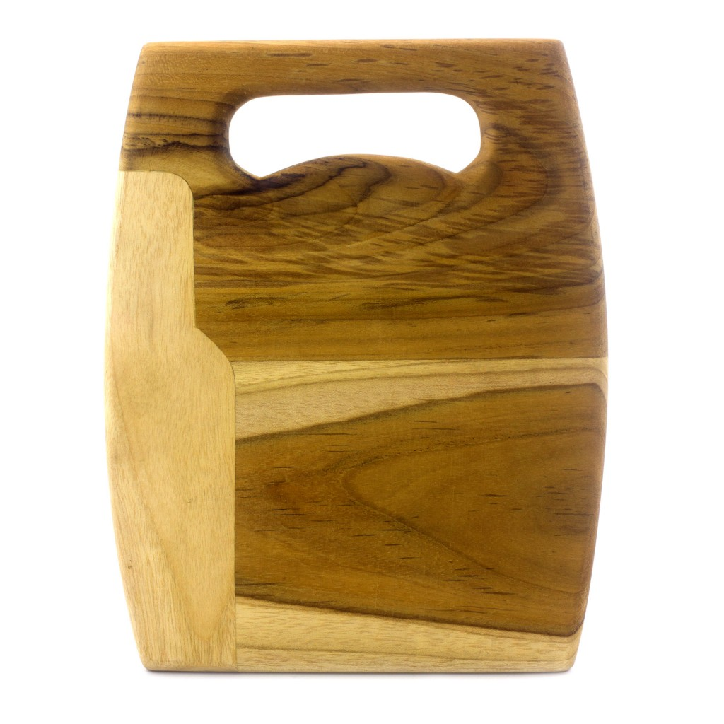 Teak Cutting Board hand crafted hard wood handle serving piece kitchen gifts NOVICA Fair trade