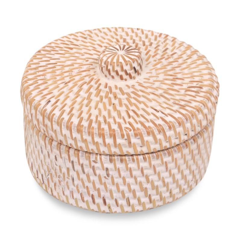 NOVICA Natural fiber basket and lid