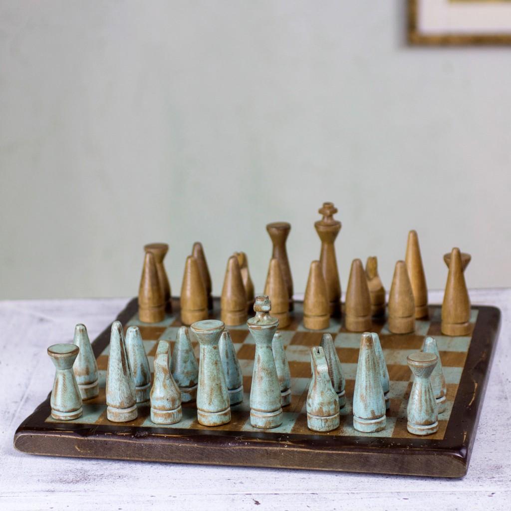 wood chess set