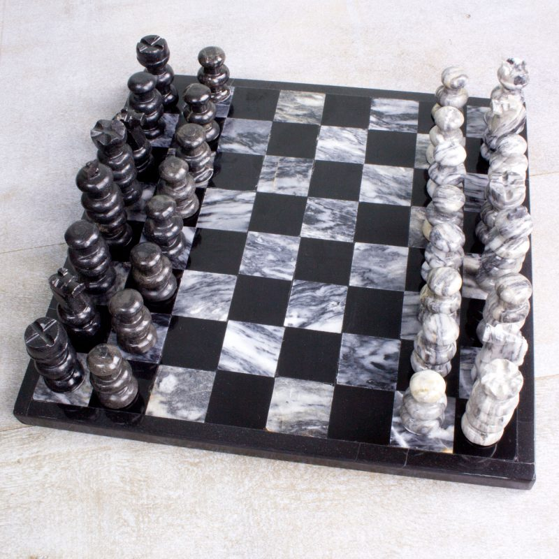 Sophisticate Marble Chess Set hand carved artisan-made NOVICA gifts